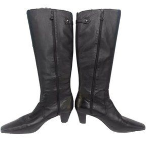 Cole Haan Juli Tall Leather Boots Black Womens 10